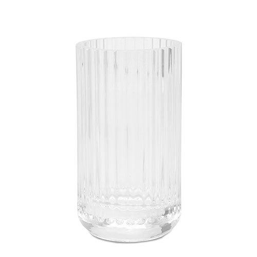 lyngby vase clear glass 20 cm