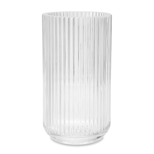 lyngby vase 25 cm klar glas porcelaen. Black Bedroom Furniture Sets. Home Design Ideas