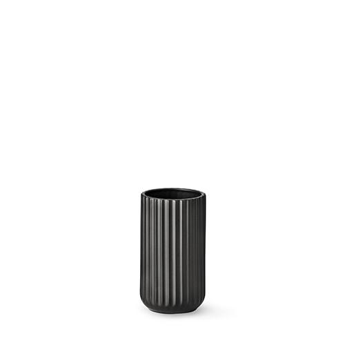 lyngby vase matt black porcelain 15 cm. Black Bedroom Furniture Sets. Home Design Ideas