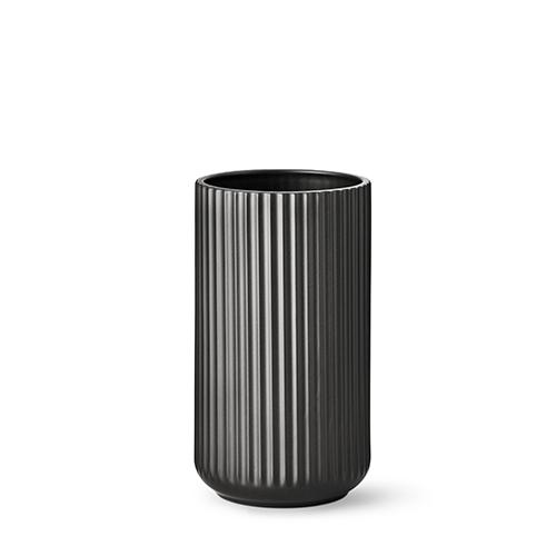 lyngby vase matt black porcelain 25 cm. Black Bedroom Furniture Sets. Home Design Ideas