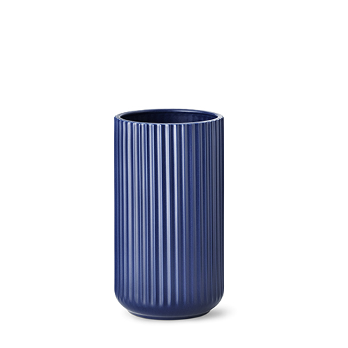 lyngby vase matt blue porcelain 25 cm. Black Bedroom Furniture Sets. Home Design Ideas