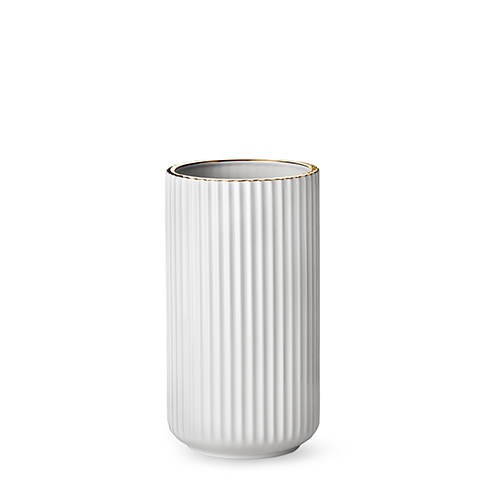 6025-lyngby-vasen-25-cm-hvid-guldkant-porcelaen-500x500
