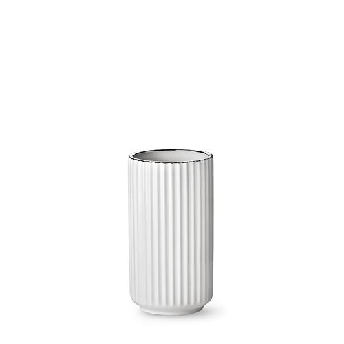lyngby vase wei es porzellan mit silberrand 20 cm. Black Bedroom Furniture Sets. Home Design Ideas