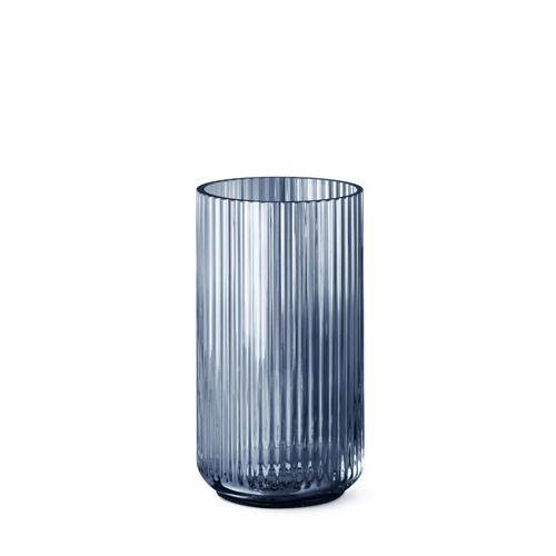 Groovy Lyngby vase - Blue glass 25 cm US84