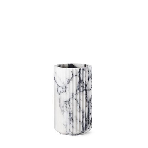 lyngby vase wei es marmor 20 cm. Black Bedroom Furniture Sets. Home Design Ideas